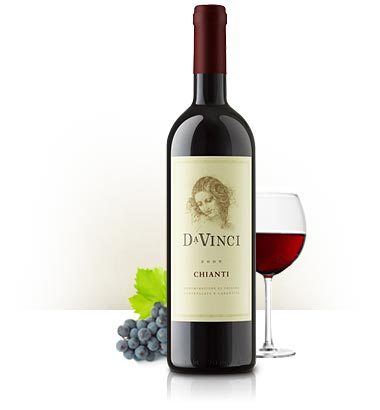Davinci Chianti wine bottle