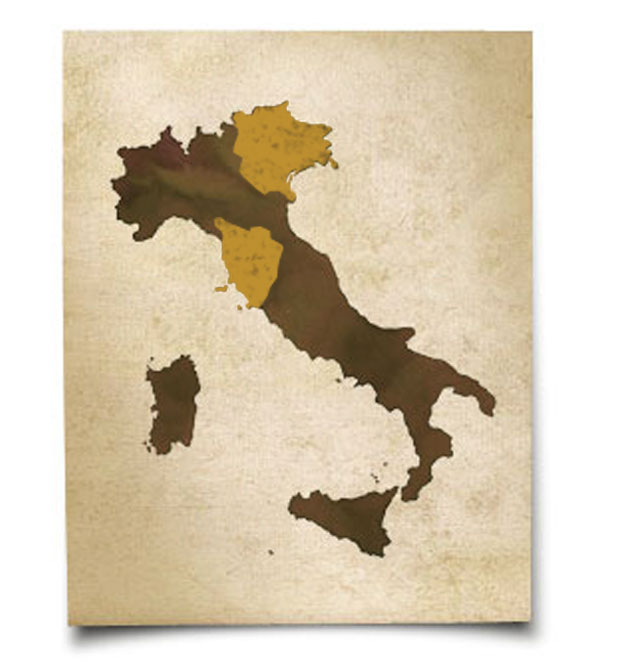 DaVinci Wine Tuscany Chianti Vinci Cerreto Guidi Tre Venezie - Tuscany region map